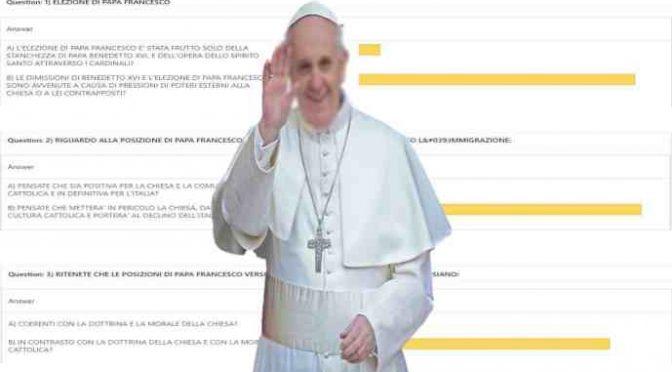 Sondaggio choc: per 95% Bergoglio distruggerà Chiesa e Italia