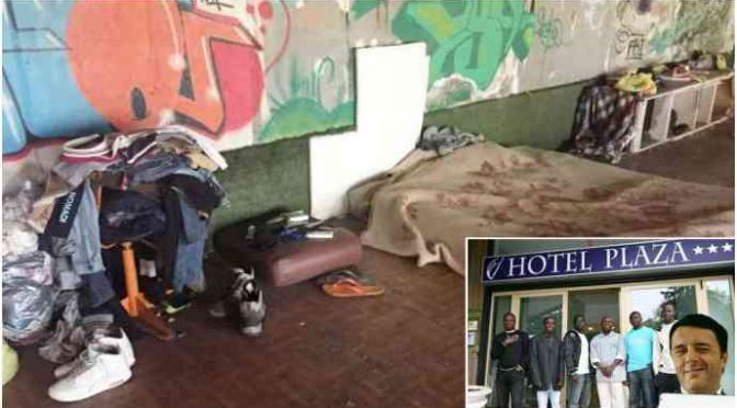 Fratelli italiani perdono casa e lavoro, vivono da due anni in mezzo ai topi, a pochi passi da hotel dei profughi