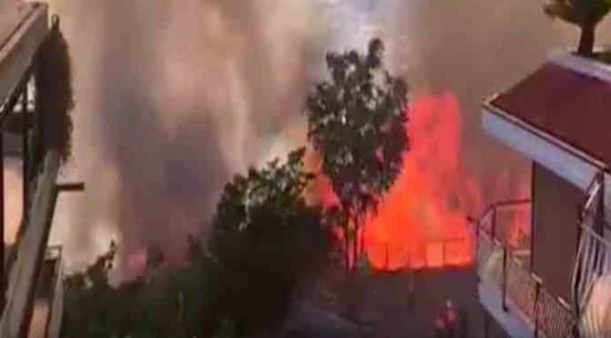 Tivoli: incendio distrugge centro profughi