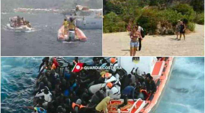 Villaggio assediato da fiamme, sindaco si appella a barche private, Guardia Costiera è in Libia a prendersi 4.000 clandestini
