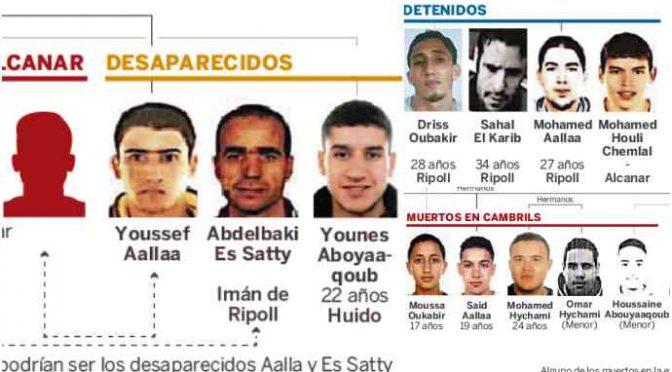 Barcellona, caccia a islamico: in covo 120 bombole di gas, ecco tutti i terroristi – FOTO