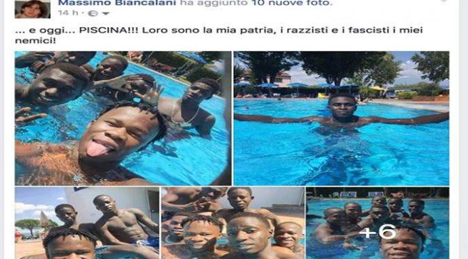 """Prete si sollazza in piscina con i suoi maschi africani: """"Portarmeli via è un crimine"""""""