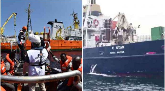 Libia, guerra in alto mare tra Ong e nave identitaria Defend Europe