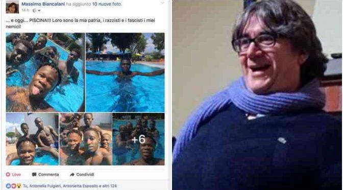 Vescovo 'sospende' il prete che si sollazza in piscina coi profughi