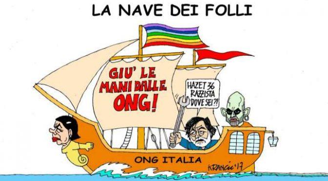 """Saviano difende i trafficanti umanitari delle Ong: """"Caccia alle streghe"""""""