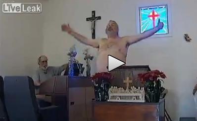 La seconda chiesa più pazza del mondo: tutti nudi alla messa – VIDEO