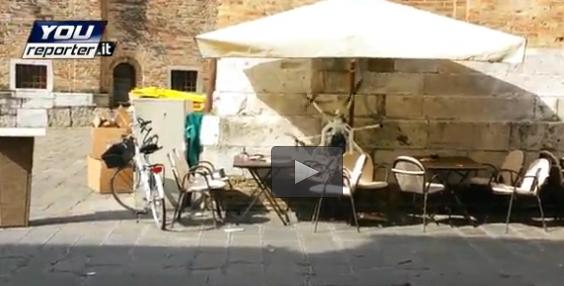 Treviso: drone si schianta su bar – VIDEO