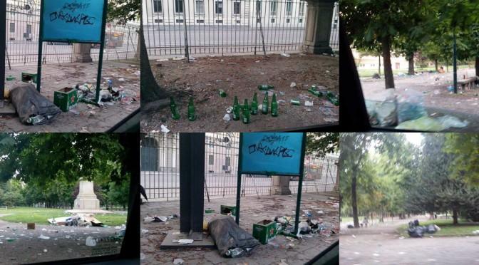 Milano dopo la festa degli ecuadoregni: degrado e sporcizia – FOTO