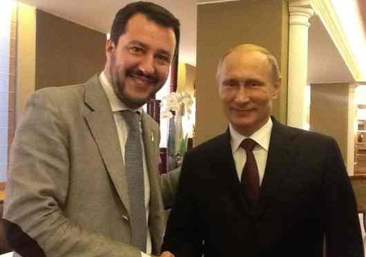 Salvini, blitz a Mosca: incontro con Putin