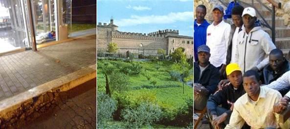 Siena: clandestini in lussuoso resort, italiani alla stazione – FOTO