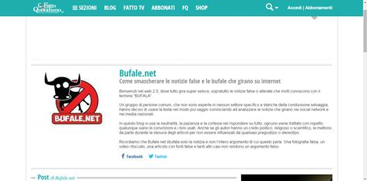 Bufale.net, il blog 'apolitico' del Fatto Quotidiano…