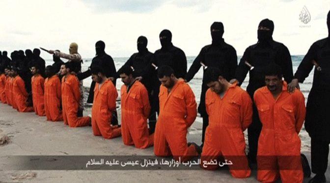 Islamici sgozzano 21 cristiani rapiti in Libia – VIDEO CHOC
