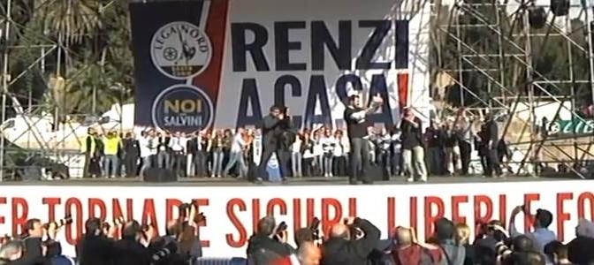 Roma è con Salvini: imponente manifestazione a Piazza del Popolo – DIRETTA VIDEO