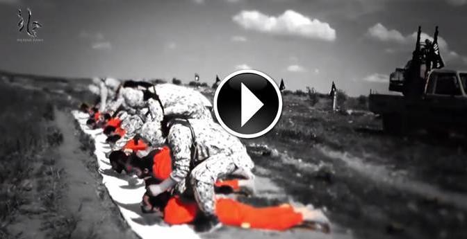 ESECUZIONE CHOC: BAMBINI PORTANO PRIGIONIERI, MILIZIANI LI SGOZZANO – VIDEO