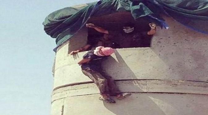 Islam: islamici sciiti lanciano miliziani ISIS da palazzo – FOTO CHOC