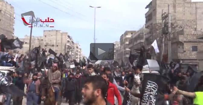 'Primavera siriana': i 'ribelli' di Aleppo manifestano, vogliono ISIS – VIDEO