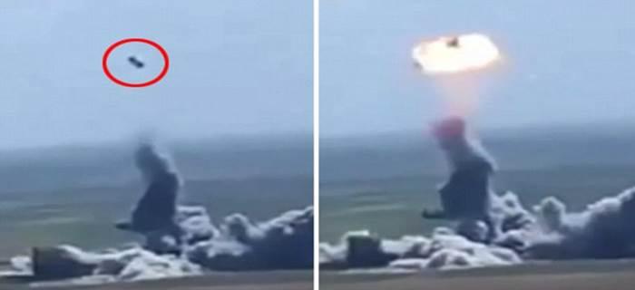 Kamikaze sfortunato: Autobomba ISIS esplode a mezz'aria – VIDEO