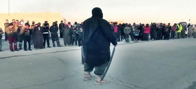 IL BOIA DI ISIS IN AZIONE CONTRO CHI 'RESISTE' ALL'ISLAM – VIDEO CHOC