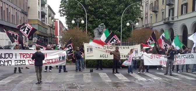 Biella: presidio FN contro i '2 milioni di euro ai clandestini'