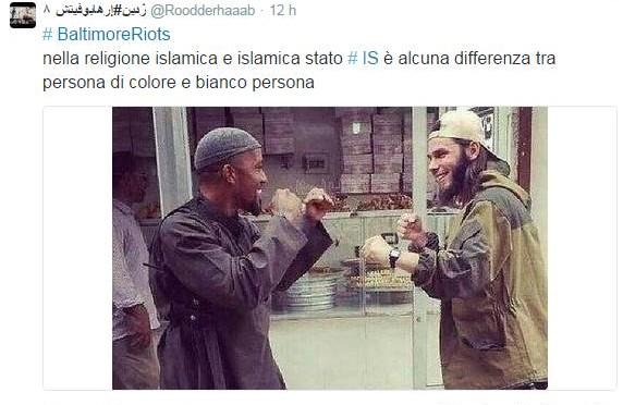 "ISIS appoggia disordini Baltimora: ""Noi antirazzisti"""