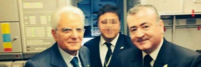 Pilota Alitalia spara in aria, portò Mattarella