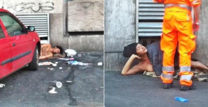 Milano: dopo 2 anni, il trans nudo è sempre lì – FOTO