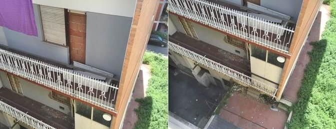 Roma: cittadini murano finestre, per proteggersi da abusivi – FOTO