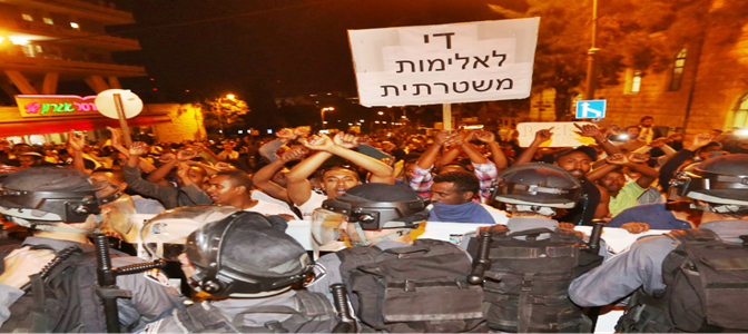 Scontri razziali a Gerusalemme: ebrei neri assaltano Polizia 'razzista' – FOTO – VIDEO
