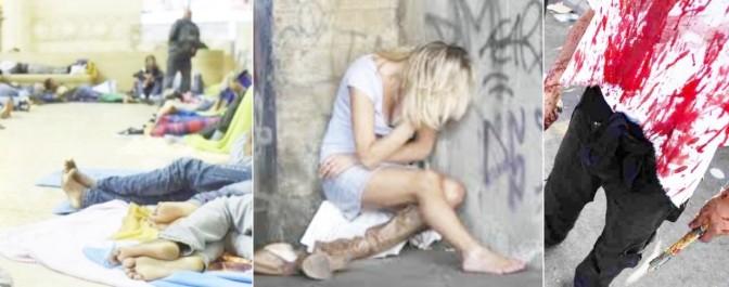 EFFETTO RENZI: SCABBIA A MILANO, STUPRI A TORINO E COLTELLATE A ROMA