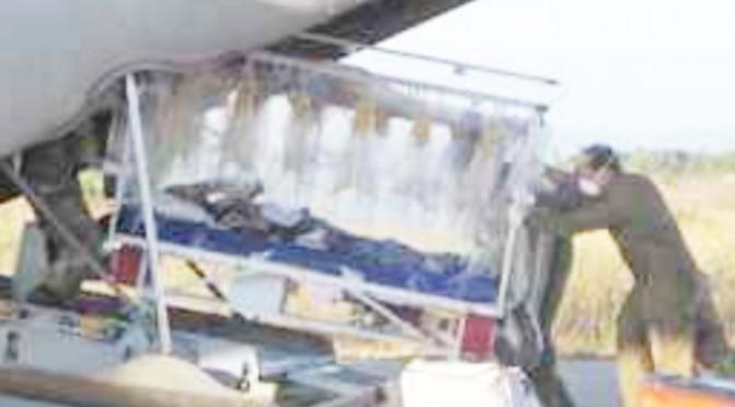 Aeronautica trasporta paziente super-infetto da TBC – FOTO