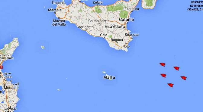 ECCO LA FLOTTA D'INVASIONE UE DIRETTA VERSO L'ITALIA