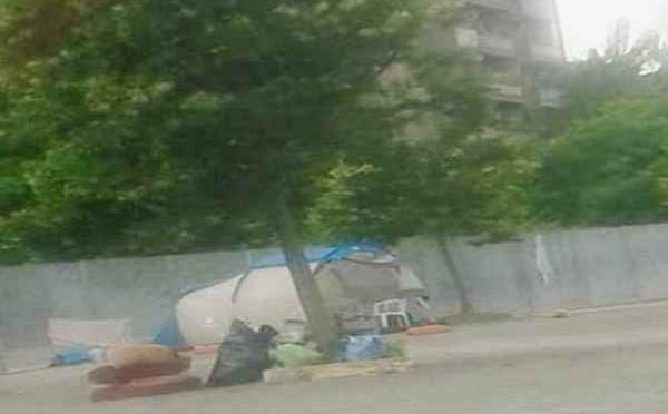 Roma: accampamenti profughi sui marciapiedi