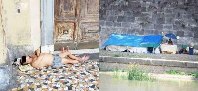 Roma: i profughi di Renzi dormono ovunque – FOTO