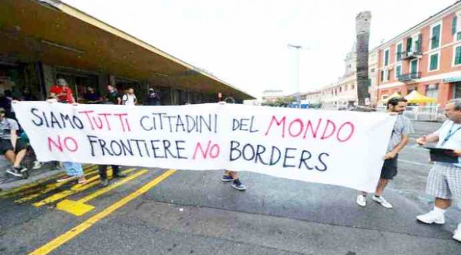 Ventimiglia: 'imponente' manifestazione pro-profughi – FOTO