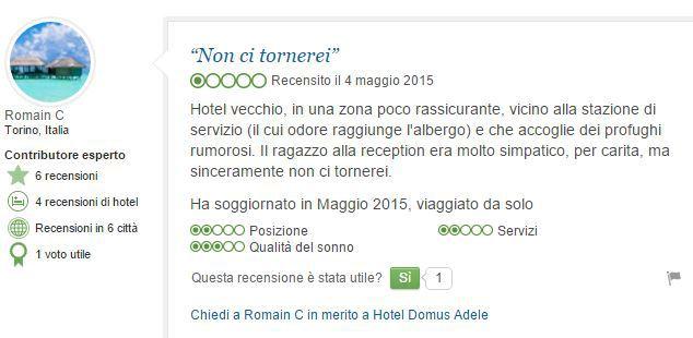 """Prenota hotel e ci trova profughi: """"Puzza allucinante e preghiere islamiche"""""""