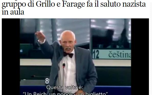 """Bufala del FattoQuotidinao sul """"Grillino Nazista"""""""