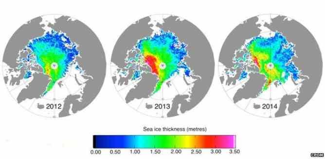 Ghiacci Artico a livelli record – MAPPA