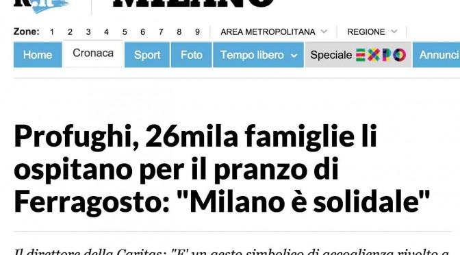 """Bufala di Repubblica sui profughi: """"26mila famiglie li ospitano a pranzo""""….sono solo 26 fanatici"""