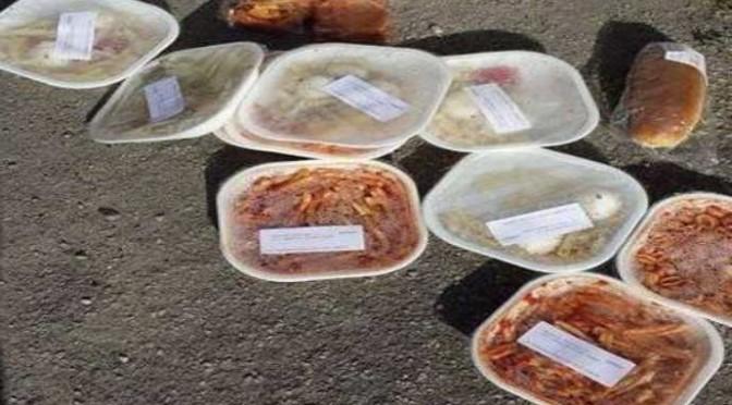 Profughi rifiutano pasta e pizza, gettate per terra e nei bidoni