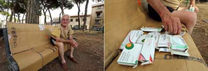 Adriano, italiano di 65 anni e malato di cuore: vive su una panchina da 2 anni
