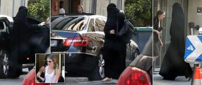 Modella usa burqa per nascondere visita da chirurgo estetico…