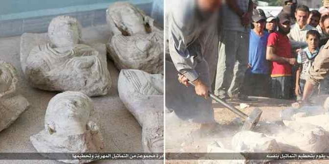PALMIRA: ISLAMICI DISTRUGGONO STATUE ROMANE – FOTO