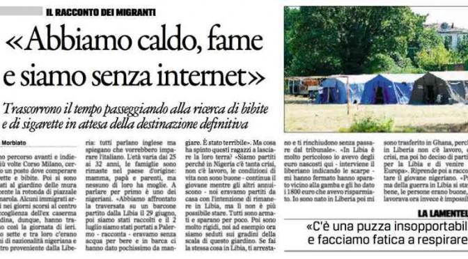 """Giornale su profughi: """"Poverini, non hanno Internet"""""""
