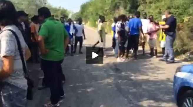 Verona: profughi dello stupro bloccano strada, prefetto corre ad ascoltarli…
