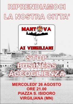Mantova: manifestazione davanti hotel dei profughi (finti)