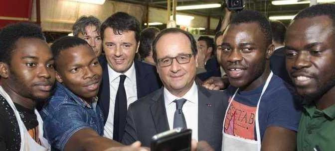 Renzi: 24 auto di scorta, per farsi il selfie con i profughi – VIDEO