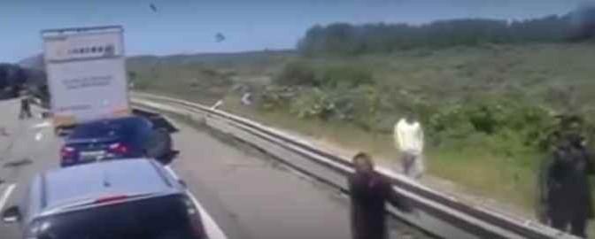 Autostrada: attenti al profugo – VIDEO