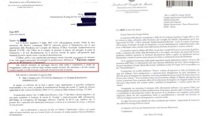 UNAR: da Vox alla Meloni, migliaia di lettere di censura in un anno