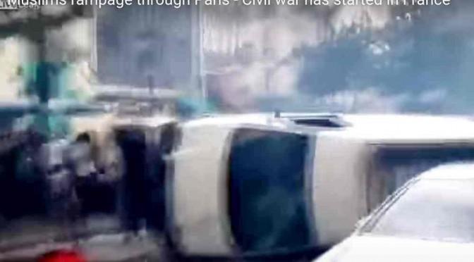 Guerriglia islamica a Parigi: immigrati devastano quartieri al grido Allah Akbar! – VIDEO CHOC