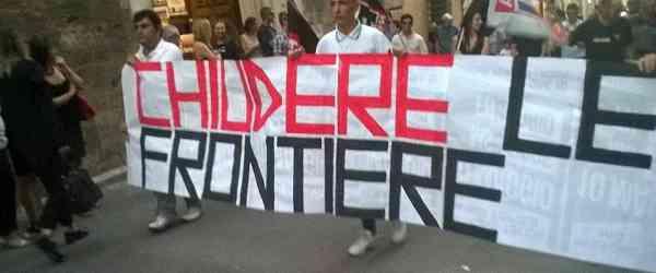 Rieti, corteo FN contro l'invasione